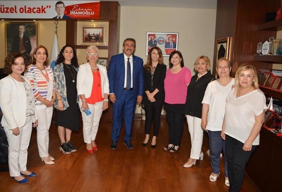 İŞKAD Yönetim Kurulu Başkanı  Berman Mantı ve Yönetim Kurulu ziyaretlerine devam ediyor.Çukurova Belediye Başkanı Soner Çetin Ziyareti.