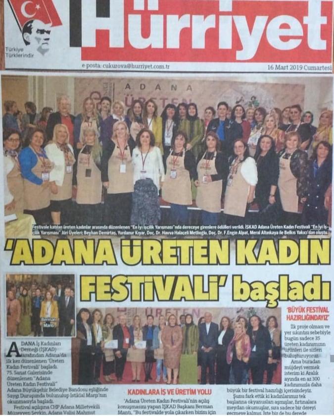 İŞKAD,ADANA ÜRETEN KADIN FESTİVALİ'NİN STARTINI VERDİ.