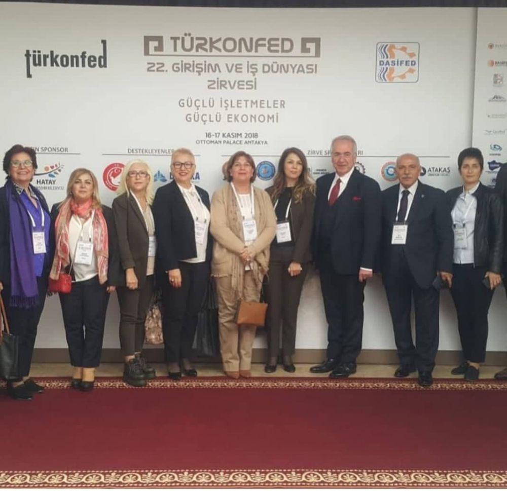 """İŞKAD,Bağlı olduğu konfederasyon olan TÜRKONFED'in Girişim ve İş Dünyası Zirvesi'nin 22'ncisi, """"Güçlü İşletmeler, Güçlü Ekonomi"""" temasıyla 16-17 Kasım'da Hatay Toplantısına katıldı."""