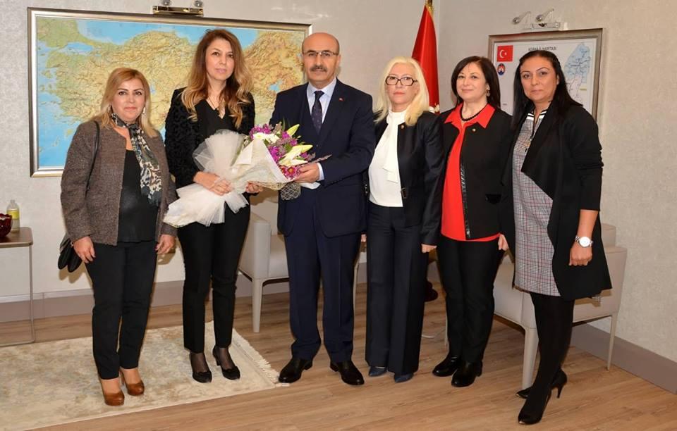 İŞKAD Başkanı Berman Mantı ve Yönetim Kurulu Üyeleri Vali Mahmut Demirtaş'ı Ziyaret Etti.