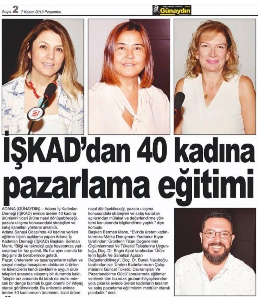 İŞKAD'dan 40 Kadına Pazarlama Eğitimi.